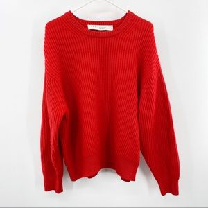 IRO Esquisse Red Knit Pullover Sweater Small